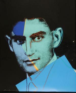 Andy Warhol, ?Franz Kafka,? screen-print on Lenox board, 1980.