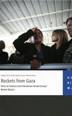 An HRW report on rocket attacks against Israeli civilians