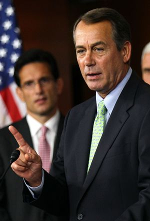 Friendlier?: If the Republicans were to capture the House in the upcoming elections, John Boehner would become speaker.