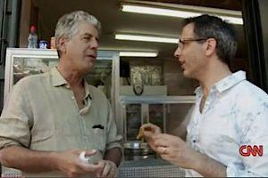 Anthony Bourdain, left, with Yotam Ottolenghi, in Jerusalem.