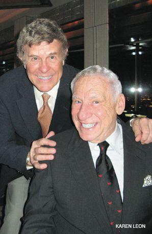 Legends: Cousin Brucie and Mel Brooks were at the event.