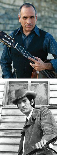 In the Saddle: David Broza (above), sings the poetry of Townes Van Zandt (below).