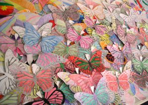 Art and Soul: Schoolchildren across Texas and Oklahoma have decorated butterflies as part of the museum?s lesson plan about the Holocaust.