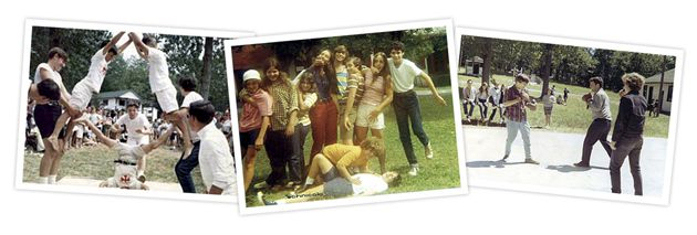 Scrapbook: Campers at Hemshekh in, from top, 1966, 1971 and 1967. Alumni are organizing a 50th reunion this fall.