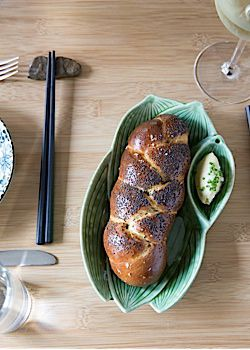 Tokyo Challah: The petite loaf at Shalom Japan is made with sake yeast and served with rice wine raisin butter.
