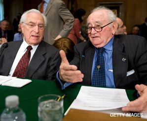 FILM FORUM: Survivor Roman Kent (right) spoke during a recent Senate hearing on Holocaust restitution, the topic at the center of a new controversial documentary on the Claims Conference.