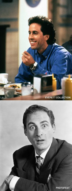 Jokesters: Jerry Seinfeld (top) and Sid Caesar (bottom) are featured in 'Make 'Em Laugh,' a six-part series on PBS.
