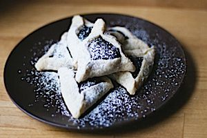 Asian Twist: Black sesame seeds add a smoky touch to these sweet hamantaschen.