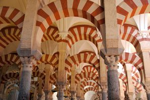 The striped arches of the Mezquita are a reminder if the ediface's Muslim heritage
