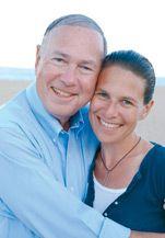 All Grown Up: Deborah Copaken Kogan with her father in summer 2008.