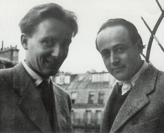 Friends: Demus, left, and Celan in Paris, 1953.