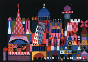 MAGICAL KINGDOM: Mary Blair?s illustrations for ?It?s A Small World? (above) and ?Alice in Wonderland?appeared in a recent exhibit at the Cartoon Art Museum in San Francisco.