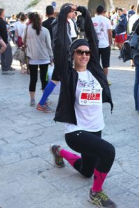 She Runs: The author warms up in Bethlehem before the race.