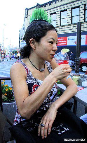 FASHION STATEMENT: Miki Katagiri models her ?eco-yarmulke.?