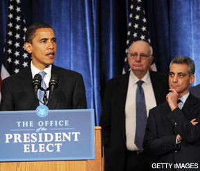 OBAMA'S ISRAELI? Contrary to reports in the Israeli and Arab press, Rahm Emanuel (right) developed a firm but fair reputation that he?s expected to bring to his new job as Obama?s chief of staff.