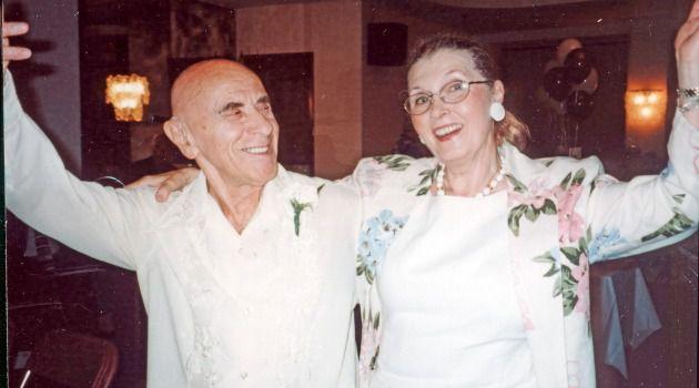 Dancing Feet : Choreographer Felix Fibich celebrates with Masha Leon in this 2012 photo.