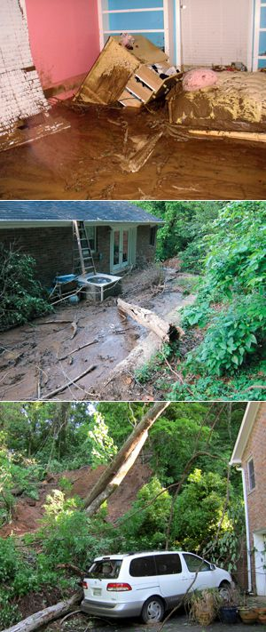 Extensive Flooding: Mudslides, precipitated by heavy rains in the Nashville area, ruined the home of Trent Rosenbloom. His fam- ily was one of 40 in the city?s small Jewish community to suffer catastrophic damages in the flooding.