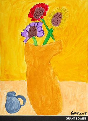 FLOWERS FOR HOPE: A painting by a young Gaucher sufferer.