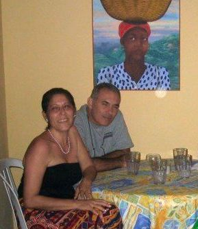 Happier Days: Rudolph Dana, a third generation Haitian Jew, with his wife, Viviane.