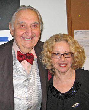 Entertainers: Fyvush Finkel and Chava Alberstein.