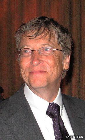 SMARTY PANTS: Bill Gates received the Einstein Award.