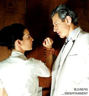 WRESTLING WITH THE PAST: Jeff Goldblum in ?Adam Resurrected,? with Israeli actress Ayelet Zurer.