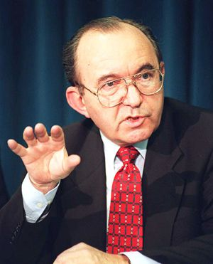 Even-Handed: South African jurist Richard Goldstone earlier headed his country?s Truth and Reconciliation Commission inquiry on apartheid.