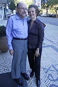 Conversions: Rabbi Jules Harlow, left, and his wife Navah have been traveling to Lisbon since 2005.