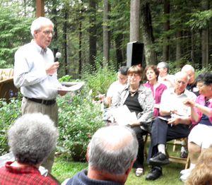 Speaker: Harris Gleckman at the gathering in Westchester, N.Y.