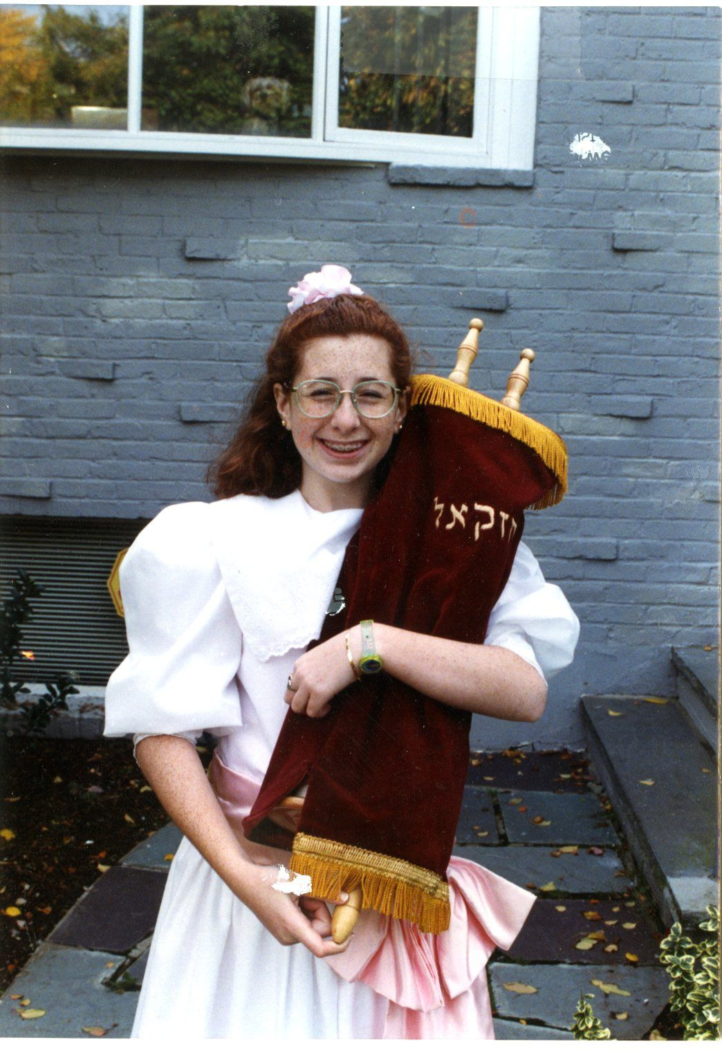 The author on her bat mitzvah day. (click to enlarge)