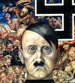 Face of Evil: Szyk draws Hitler.
