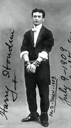 Harry in Chains: Houdini toured Britain in 1903.