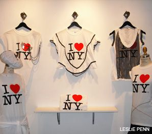 DRESS YOU UP: I Love New York T-shirts that were re-imagined by Israeli designers are up for sale at a boutique in Manhattan.