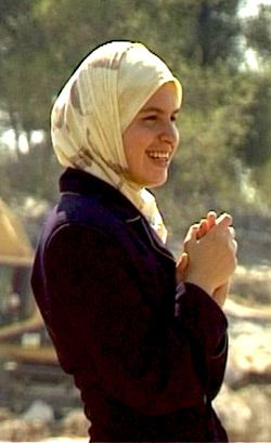 Protest Leader: Iltezam Morrar features prominently in the film as an unlikedly leader of the protests against the barrier.