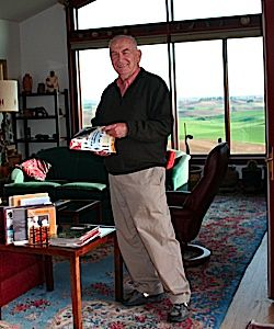 The Professor at Home: Dr. Edmund Mayer, seen here at home, passed away last October at the age of 82.