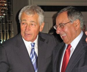 Chuck Hagel and Leon Panetta