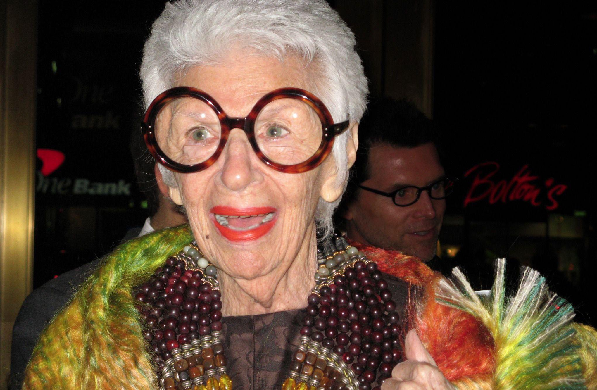 94-year-old style icon Iris Apfel.