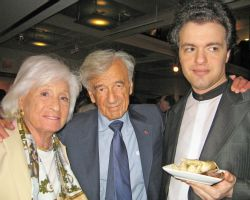 Marion and Elie Wiesel and Evgeny Kissin