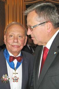 Sigmund Rolat and President Bronislaw Komorowski