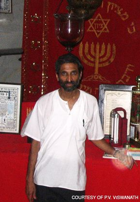 INTERPRETER: P.V. Viswanath, who worked as interpreter during the terrorist siege, shown here during a visit to an Indian synagogue.