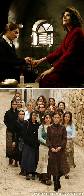 TEACHER KNOWS BEST: Top, Naomi struggles with friendship, Judaism and passion, below seminarians stroll through Safed, both from 'The Secrets.'