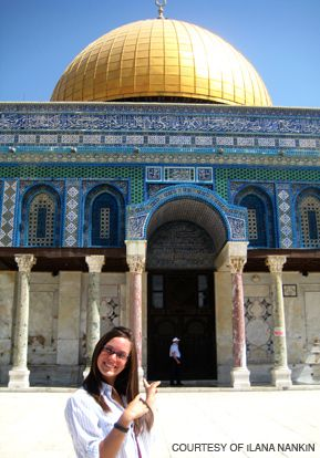 SHE WENT ANYWAY: Ilana Nankin, 21, pictured here in Jerusalem, struggled to gain academic credit for her studies.