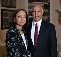 Giving Back: Barbara Picower with her late husband, Jeffry, who may have been an innocent victim of Madoff.