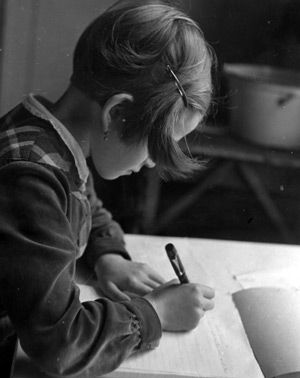 To the Old Country: In 1939, a refugee girl writes a letter to her parents in Germany, describing her new life in America.