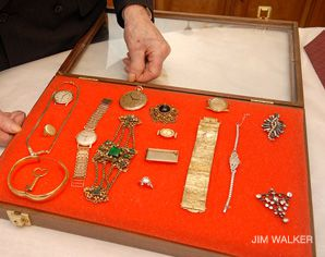 Hidden Collection: Items of Jewlery found among the clothing of Auschwitz inmates and long hidden by a camp survivor are on display at a Massachusetts museum.