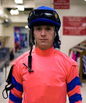 Cohen in the jockey room between races.