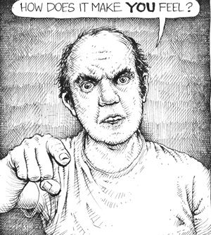 American Splendor : Harvey Pekar?s autobiographical comic strip started in 1976 and continued almost until his death. (Art by Joseph Remnant from http://www.smithmag.net/pekarproject)