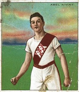 Collectible: A trading card of Abel Kiviat from the 1910 Mecca Cigarettes, Series of Champion Athletes.
