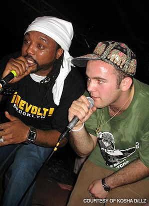 BREAKING THE MOLD: Kosha Dillz (right) collaborated with C-Rayz Walz on the new hip-hop album ?Freelance Vs. Written.?