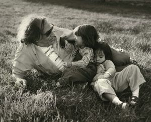 ?Daddy, Did You Save the World??: William Kunstler in a quiet moment with his daughters Emily and Sarah in 1980.